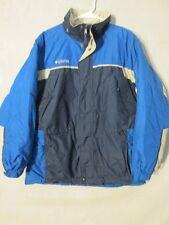 V7231 Columbia Blue/Beige Striped Poly-Fill Jacket Kids' 18/20