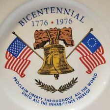 Vintage 1776-1976 Bicentennial Collectible Home Decor Plate Patriotic Bell Flag