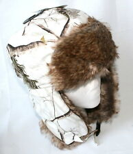 Next mens trapper hat green camouflage camo faux fur size Small Medium  NEW