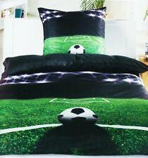 Fußball Wende Bettwäsche 135x200cm Microfaser Fußballplatz Spielfeld Tor Ball