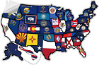 """RV State Sticker Travel Map - 20"""" x 12"""" - USA States Visited Decal - United Stat"""