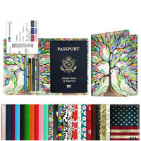Passport Holder Travel Wallet RFID Blocking Case Cover With Credit Card Slot