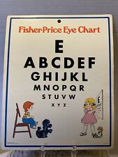 FISHER-PRICE EYE CHART Vintage 1977 Doctor Medical Kit Replacement