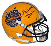 PATRICK QUEEN SIGNED LSU TIGERS 2019 NATIONAL CHAMPIONS F/S AUTHENTIC HELMET BAS