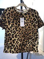 Zara Leopard Print T-shirt - size S bNWT