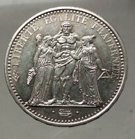 1968 FRANCE -Large 10 FRANCS Authentic French Silver Coin HERCULES Motto i57752