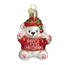 """""""Baby's First Christmas"""" (12093)X Old World Christmas Glass Ornament w/ OWC"""