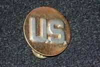WW2 Army Enlisted 'U.S.' Branch Collar Insignia Device Occupation Transition Era
