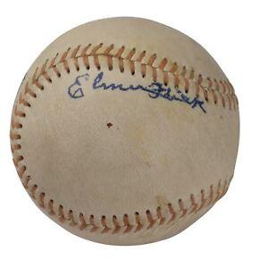 Elmer Flick Single Signed Autographed Baseball JSA COA