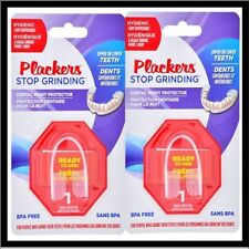 (2) Plackers Stop Grinding Dental Night Guard Protector Bruxism Clenching Teeth