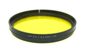 60mm Slip-On / Push- On Kelpan (Linhof) Y2 Filter - YELLOW Contrast - PERFECT