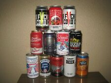 12 Different Bottom Opened Beer Cans From A Variety Of Breweries Lot 312