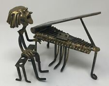 Rare! TRENCH Art PIANO PLAYER Chicago Art Fair PIANIST Nails Hinge SCULPTURE