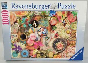 "Rare Ravensburger ""Vintage Collage"" Aimee Stewart Jigsaw Puzzle 1000 Pieces EUC"