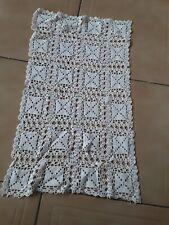 NAPPERON  rideau  protege fauteuil coton blanc au crochet @OLD
