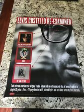 Elvis Costello is Re-Examined Large 2001 Promo Poster 24X18 Mint