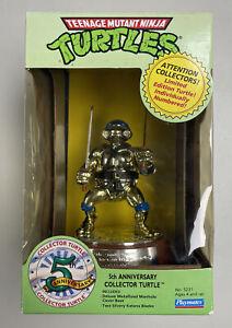 TMNT 5th Anniversary Collector statue Leo Gold Teenage Mutant Ninja Turtles Vtg.