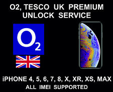 O2 UK Premium iPhone Unlock Service, iPhone 4, 5, 6, 7, 8, X, XR, XS, Max