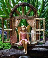 Miniature Garden Fairy Window Seat MG 158 w Fairy   Faerie