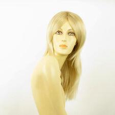 Perruque femme mi-longue blond doré méché blond très clair  ELEA 24BT613