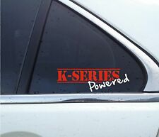 """ K-SERIES Powered "" NA S2000 / Type-R JDM K20 Sticker , Decal"