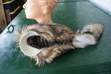 New Terrific Coyote fur hat w/ white buffalo leather on bill and top fits all