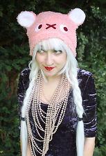 Bébé rose kawaii bear cat ear scène Emo Gothique Halloween Chapeau cosplay goth