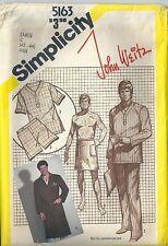 VTG Simplicity Sewing Pattern 5163 John Weitz Men's Pajamas Robe Front Wrap  LG