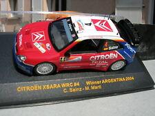 IXO models 1/43 CITROEN XSARA WRC N°4 gagnante ARGENTINE 2004 Sainz/Marti !!!