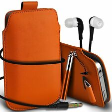 PU Leather Pull Tab Case Cover Pouch Gift Set For Nokia N8