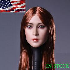 1/6 Female Head Sculpt Long Straight Hair B for Phicen Hot Toys Figure ❶USA❶