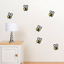 CUTE BUMBLE BEES CHILDREN'S KIDS BEDROOM PLAYROOM WALL STICKER ART VINYL MURAL