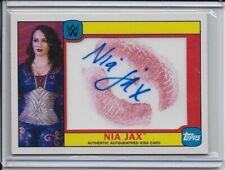 NIA JAX 2016 Topps WWE Heritage Autographed Kiss Card 08/25 Auto Autograph DIVA