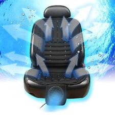Wind Force Ventilated Cooling Car Seat Cushion Black 12V/24V Automotive