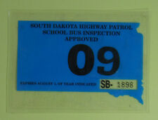 2009 South Dakota Highway Patrol School Bus Inspect Permit License Decal Sticker