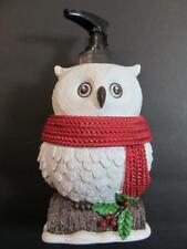 WINTER BIRCH White OWL Soap Lotion Dispenser Novelty  Bath or Kitchen