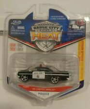 Jada '59 Chevy Impala Police Badge City Heat New in Pack 1:64 Die Cast