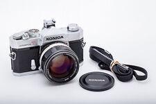(102) Konica Autoreflex T w/57/1.2, cap strap, flash shoe beautiful & functional
