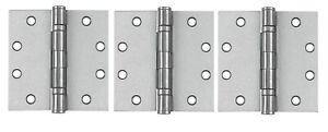 "Tell Manufacturing 4-1/2"" Steel Mortise Door Hinges 3pk Ball Bearing"