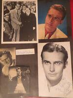 Helmut Dantine Autographed Fan Scrapbook pages 1940s
