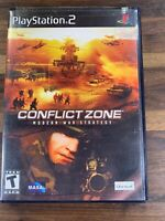 Conflict Zone Modern War Strategy Black Label PlayStation 2 PS2