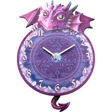 Dragon Tickin Kids Bedroom Wall Clock Pendulum 32cm Room Art Decoration Ornament