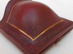 SUPER ANTIQUE LEATHER JEWELRY JEWELLERY BOX RING BROOCH PENDANT MASON CANTERBURY