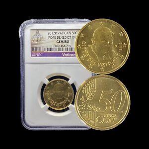 2012 Vatican 50 Euro Cents - NGC Gem UNC (SCARCE)