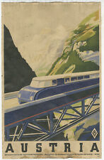 1930's Austria By Rail Vintage Advertising Poster 11x17 Train