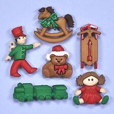 Dress It Up Botones Navidad Juguetes 6682 Adornos Soldado De Juguete Oso Muñeca De Trapo