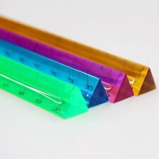 Creative Three Edged Ruler Triangular Scale Clear Crystal Measuring Ruler Tools