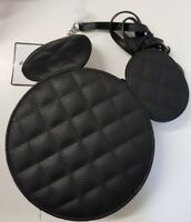 Mickey Mouse Bag Black Quilted Design Silver Chain Side Bag Women Disney Primark