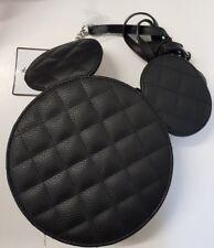 Mickey Mouse de Disney Negro Acolchadas Cadena Plata Bolsa Lateral Mujer Primark