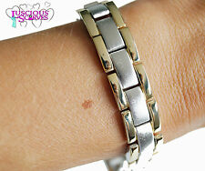 MENS SUPER STRONG BIO MAGNETIC GOLD & SILVER ALLOY HEALING BRACELET NEW